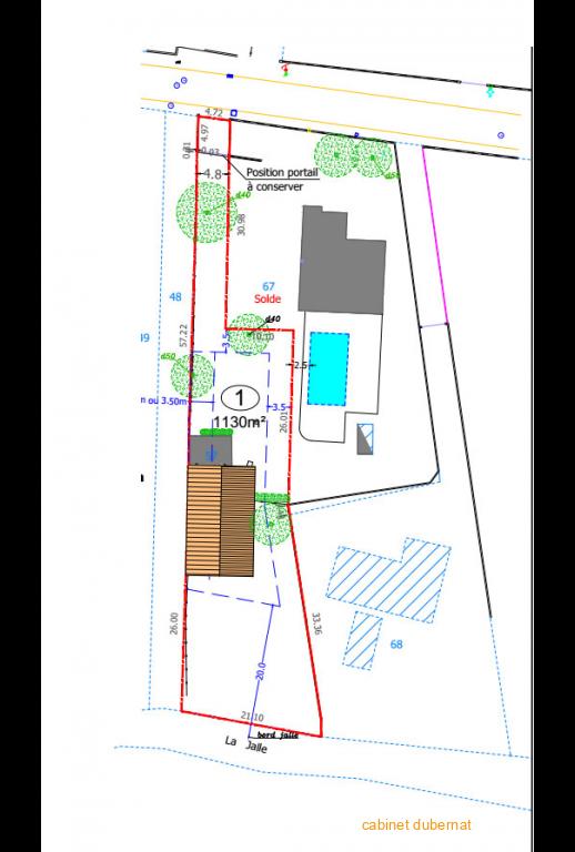 Terrain viabilisé 1130 m²